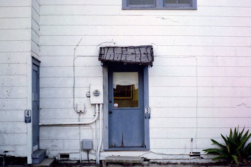 Building Exterior No People Door Outdoors Blue St. Augustine St. Augustine, FL  35 Mm Film Pentax Spotmatic Film Photography Film Filmisnotdead