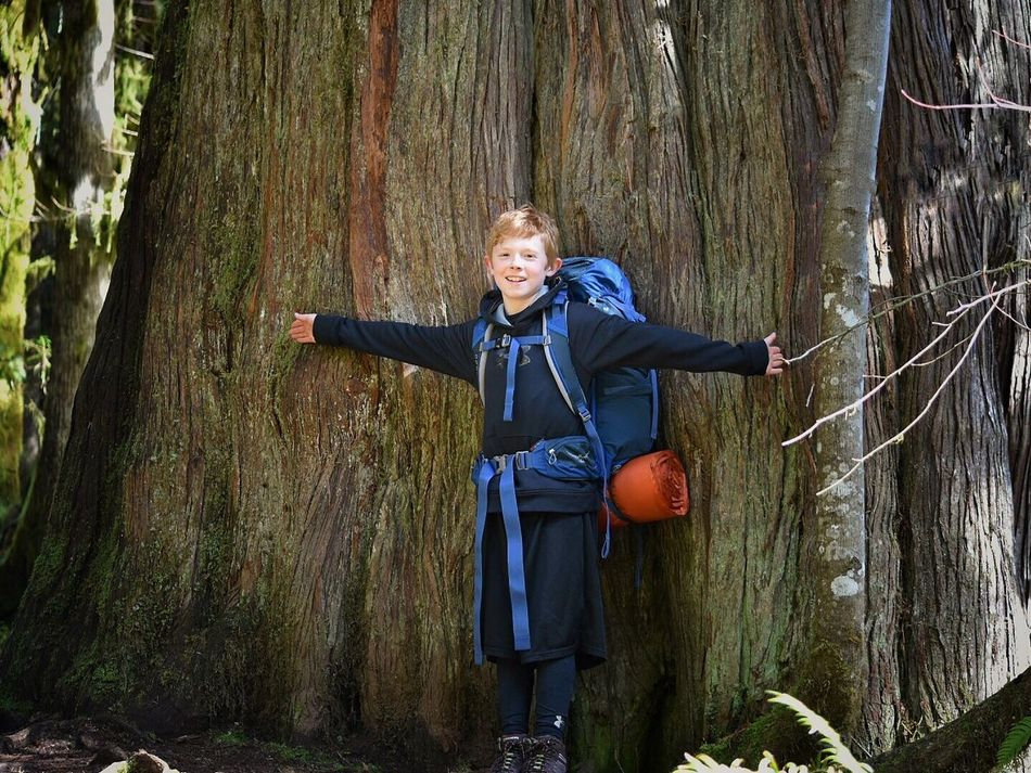 Forest Tree Tree Trunk Smiling One Person Happiness Portrait Outdoors Looking At Camera Front View People Fun Day Autumn Child Children Only One Boy Only Childhood Full Length Males  Forest Photography Exploration Adventure Hikingadventures Nature_collection