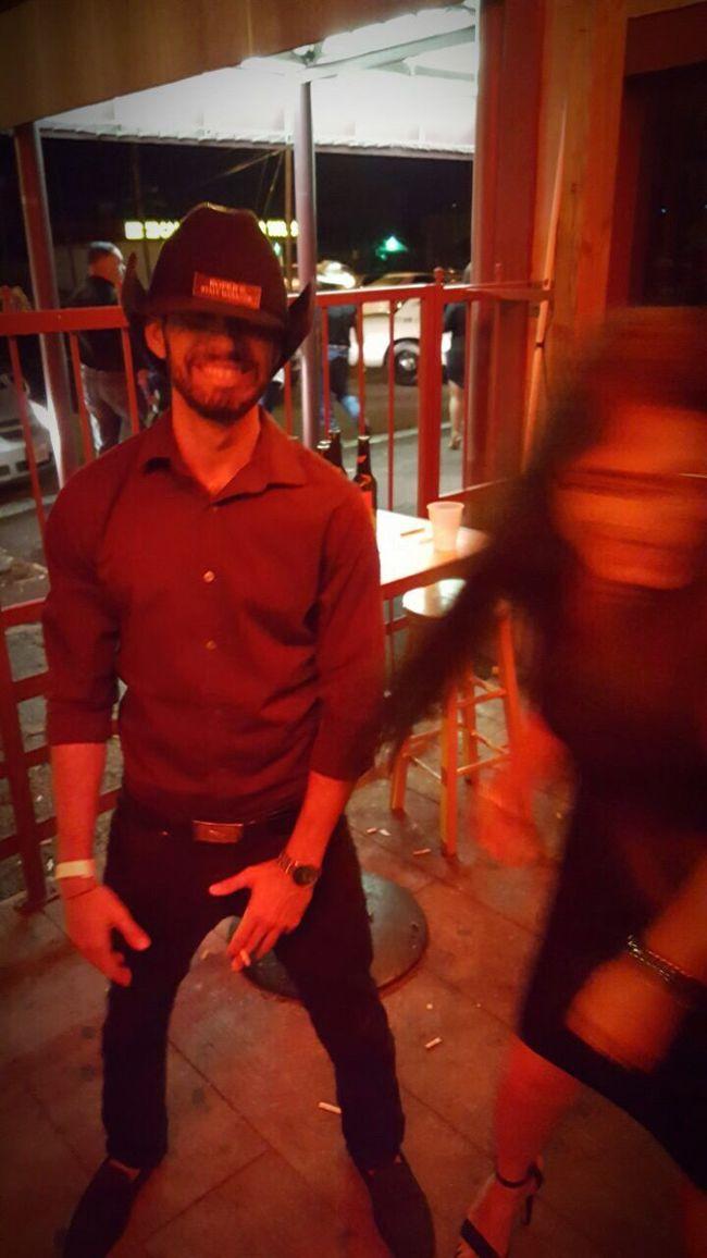 Cowboy at Texas Cowboy Hat Party