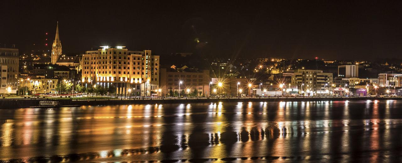 Cityscape Derry Derrylondonderry Foyle Hotel Night Water