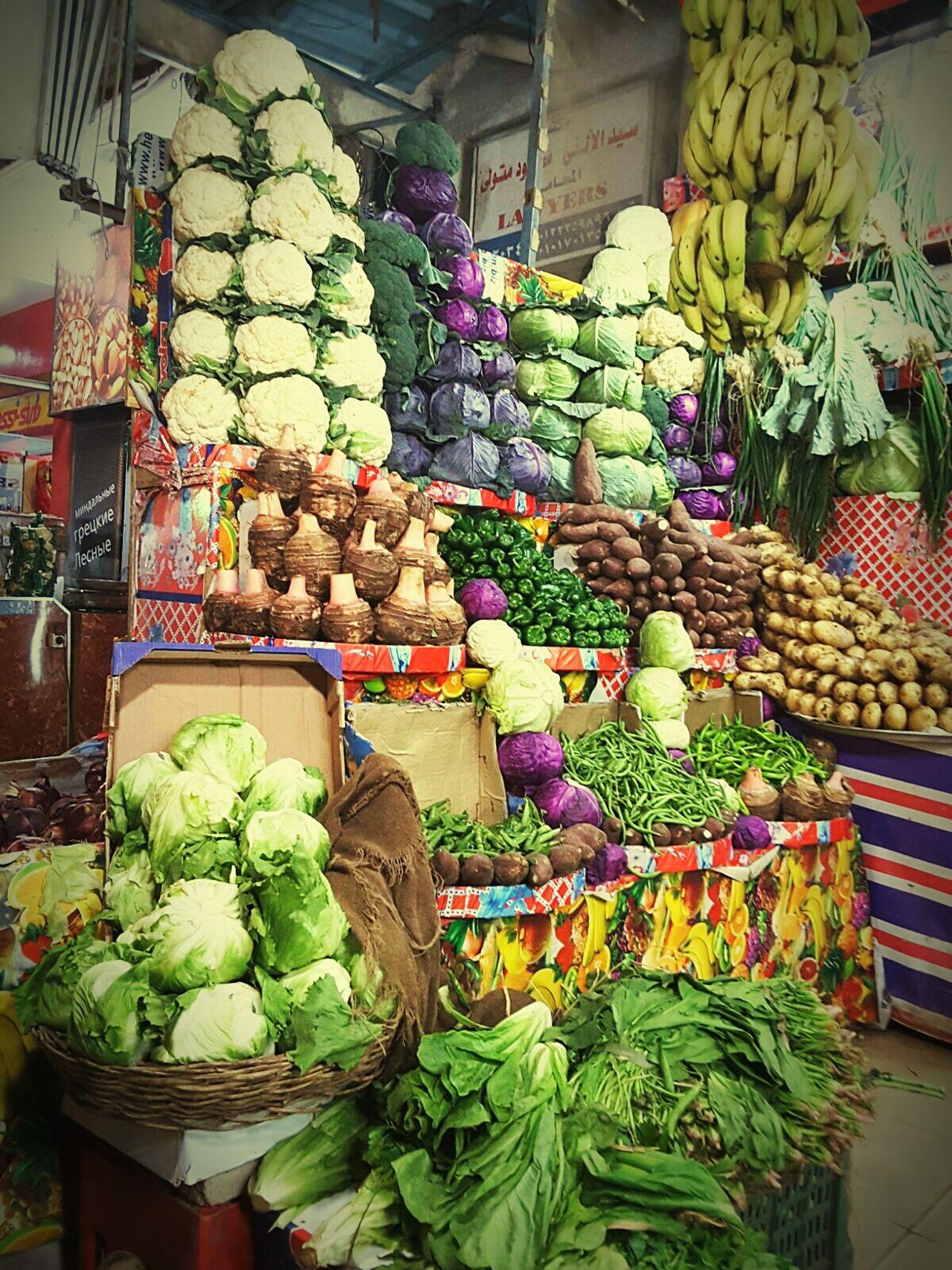 Market For Sale Market Stall Cabbage Multi Colored Food Vegetable Freshness Fruit Sharm El-Sheikh Viajar