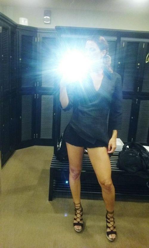 Afterworkout Vestuario Eyemphotos Summertime Funny Day Black Clasic Gangster Legselfie Legshot