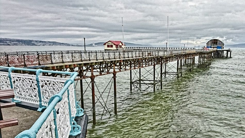 Sea Cloud - Sky Railing Outdoors Horizon Over Water Pier Piers Coast Coast Life Coastal View Lifeboat RNLI Lifeboat Station... Mumbles Pier Mumbles Swansea Wales Wales UK Wales❤ Cloudy Sky Cloudy Day No People