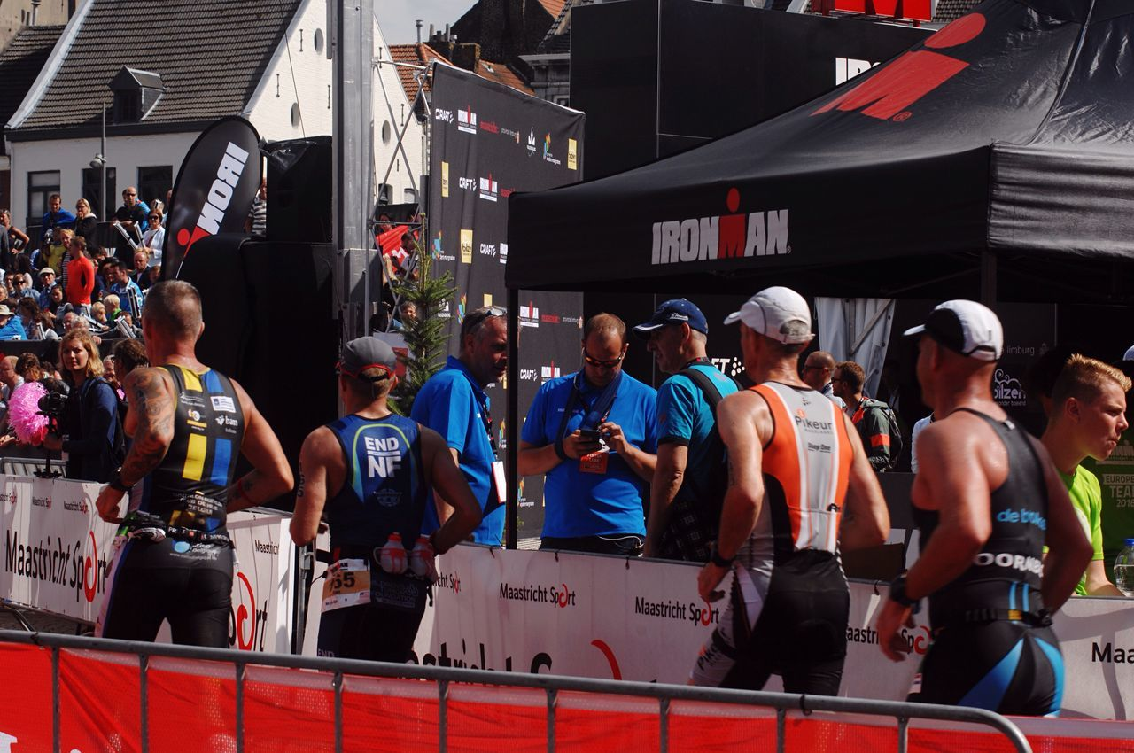 TRIATHLON Challange City Street People Watching Ironman Action Going The Distance Athletes Running Crowd Sportsphotography Competition Movement Commercial Sportsgear TriathlonLife Competition Day People Photography Ironman/ Maasstricht
