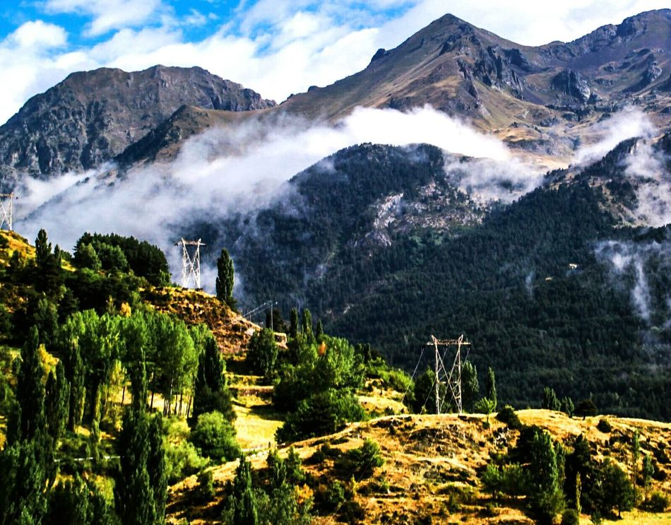 Mountain Nature Landscape Blue Growth Beauty In Nature Green Color Mountain Range Tree Scenics Outdoors No People Mountain Peak Sky Day EyeEm Gallery Check This Out Alta Tensión Electricity Tower Sallent De Gallego Beauty In Nature Pirineos Miles Away Landscapes