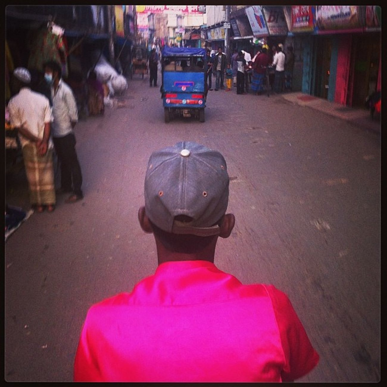 Rickshaw Ride Daily Life Pink Color Chaktai Chittagong City Instagram