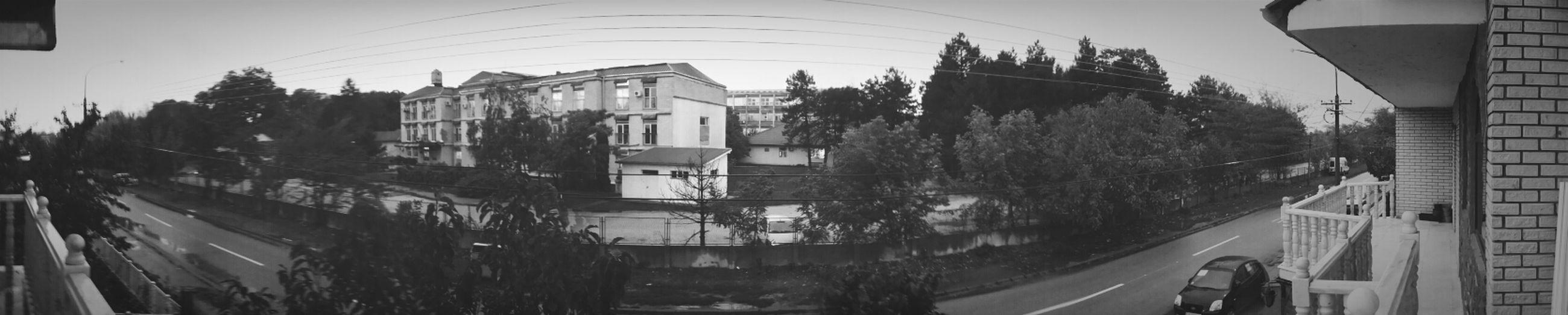 Hospital Blackandwhite Panorama