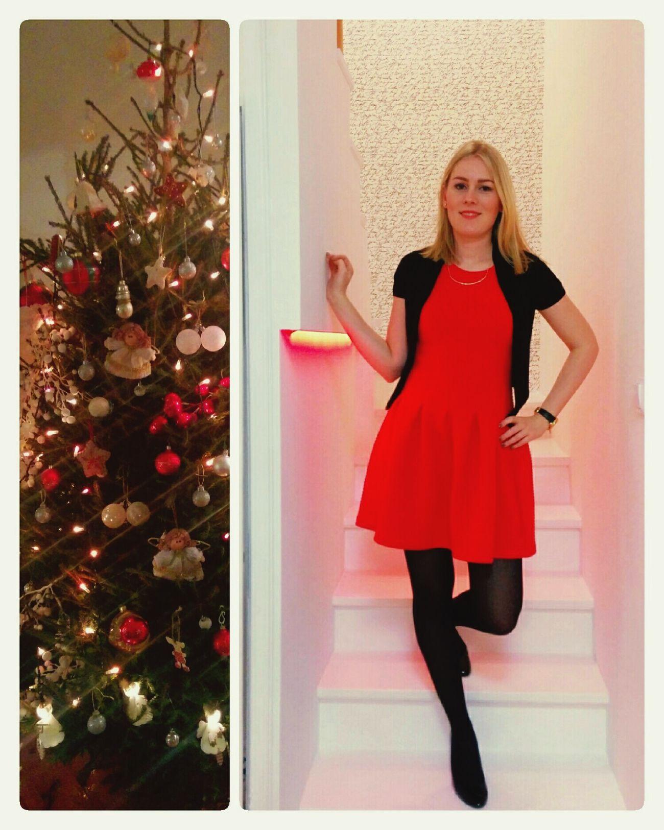 Merry Xmas Family ♥ Foodcoma Red Dress Feeling Lucky