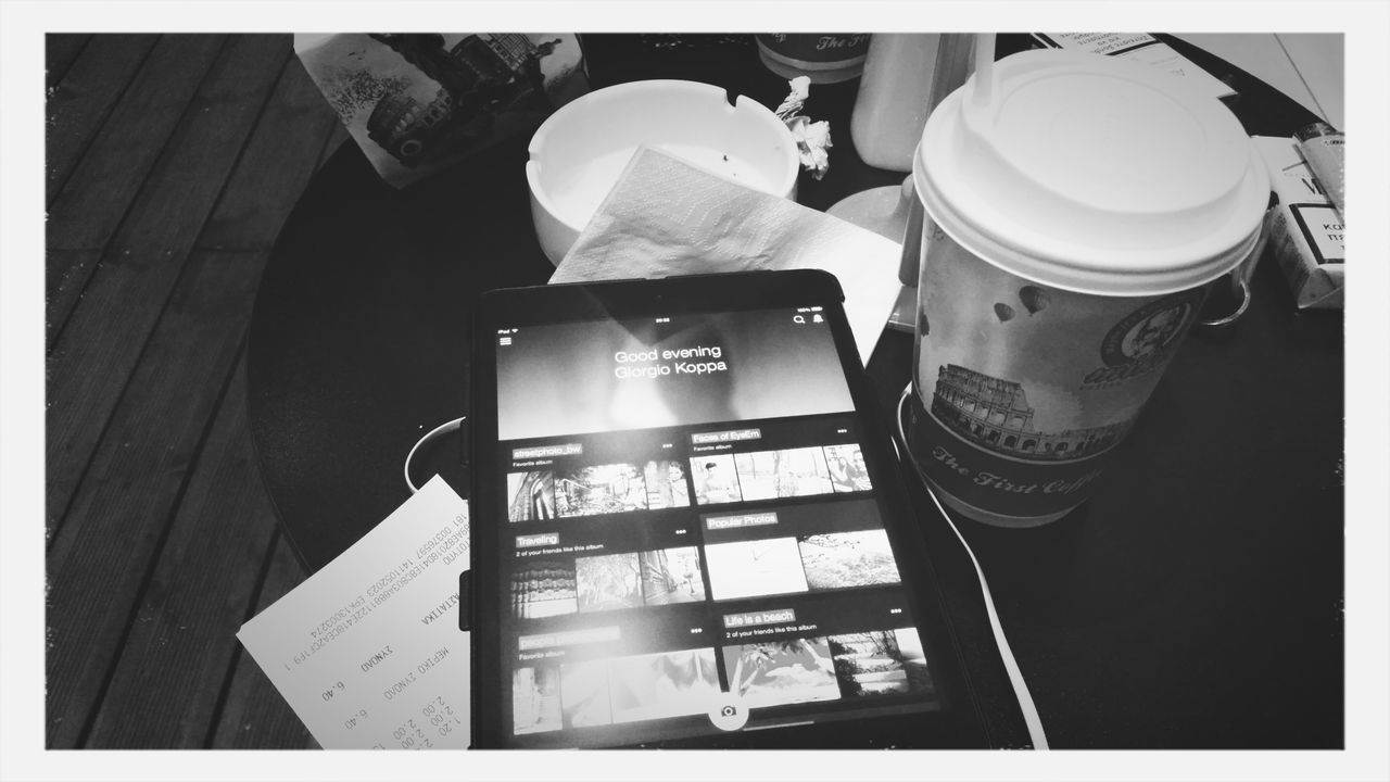 Drinking A Latte Coffee And Cigarettes IPad Mini Baked Goods