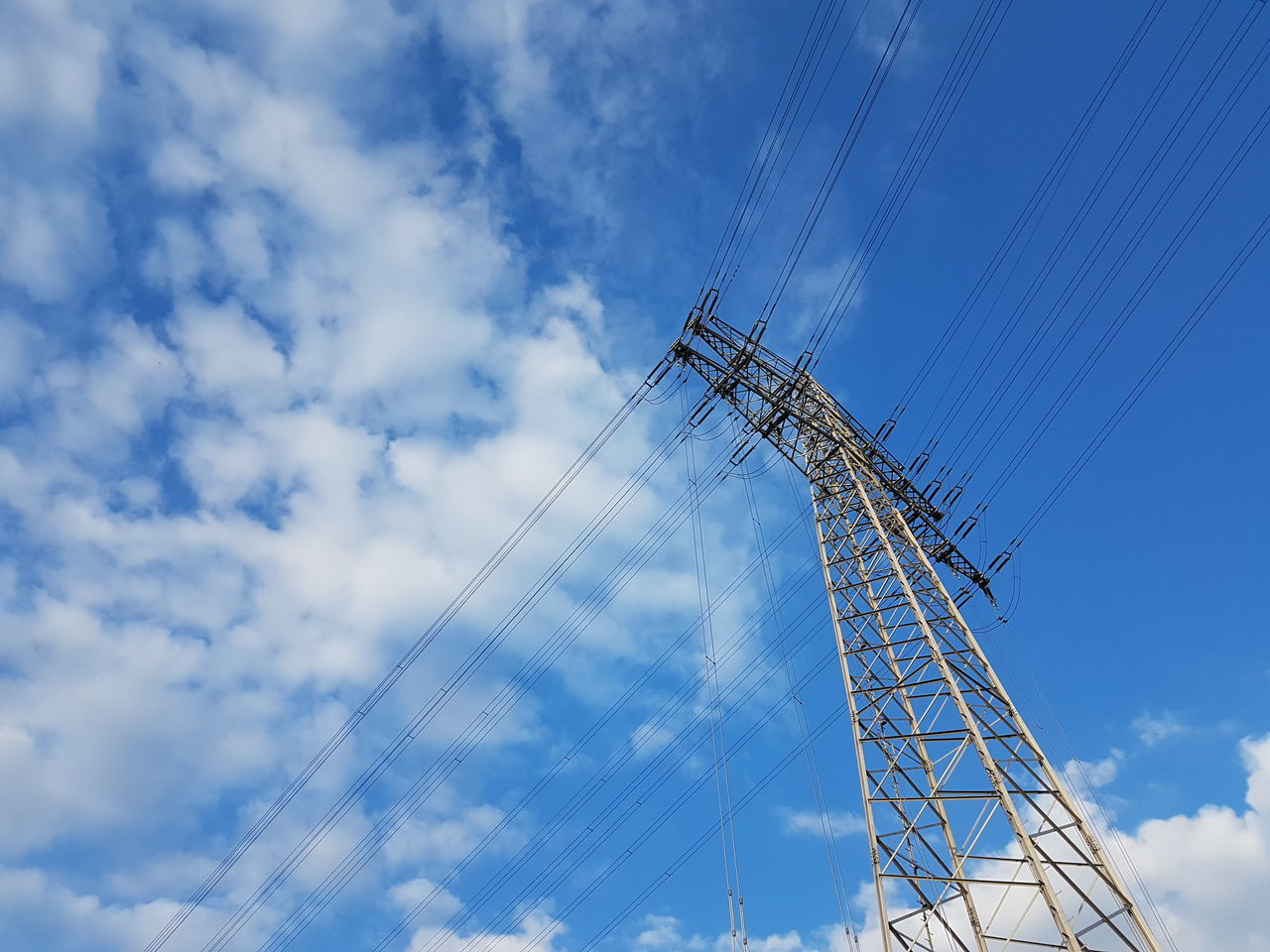 Outdoors Low Angle View Cloud - Sky Technology Day Sky Electricity  GERMANY🇩🇪DEUTSCHERLAND@ Electricity Tower Electric Tower  Electriccables
