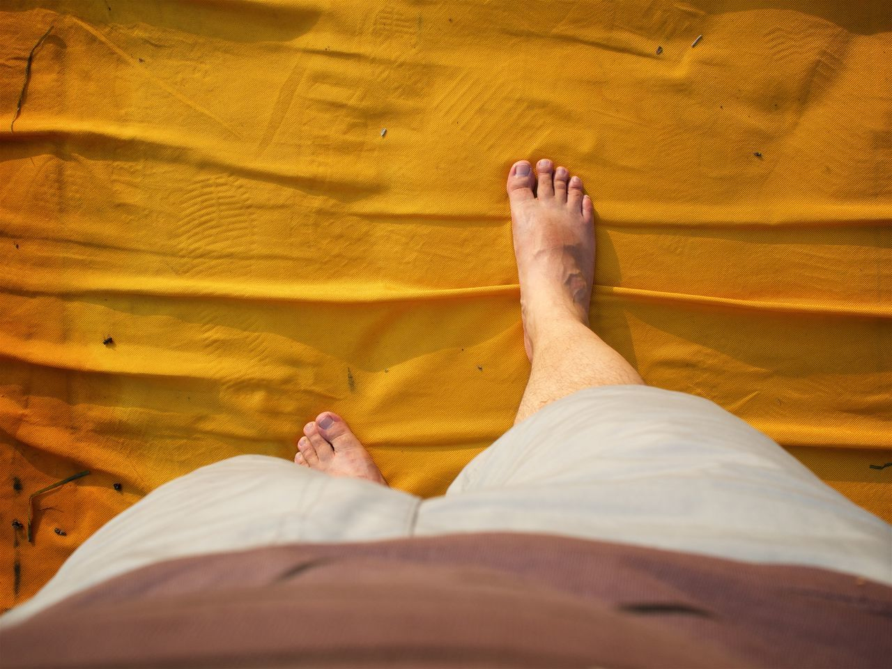 Art Barefoot Casual Clothing Christo Close-up Day Floating Piers Hardwood Floor Human Foot Iseo Lake Italy Lake Leisure Activity Lifestyles Low Section Part Of Person Personal Perspective Relaxation Walking On Water