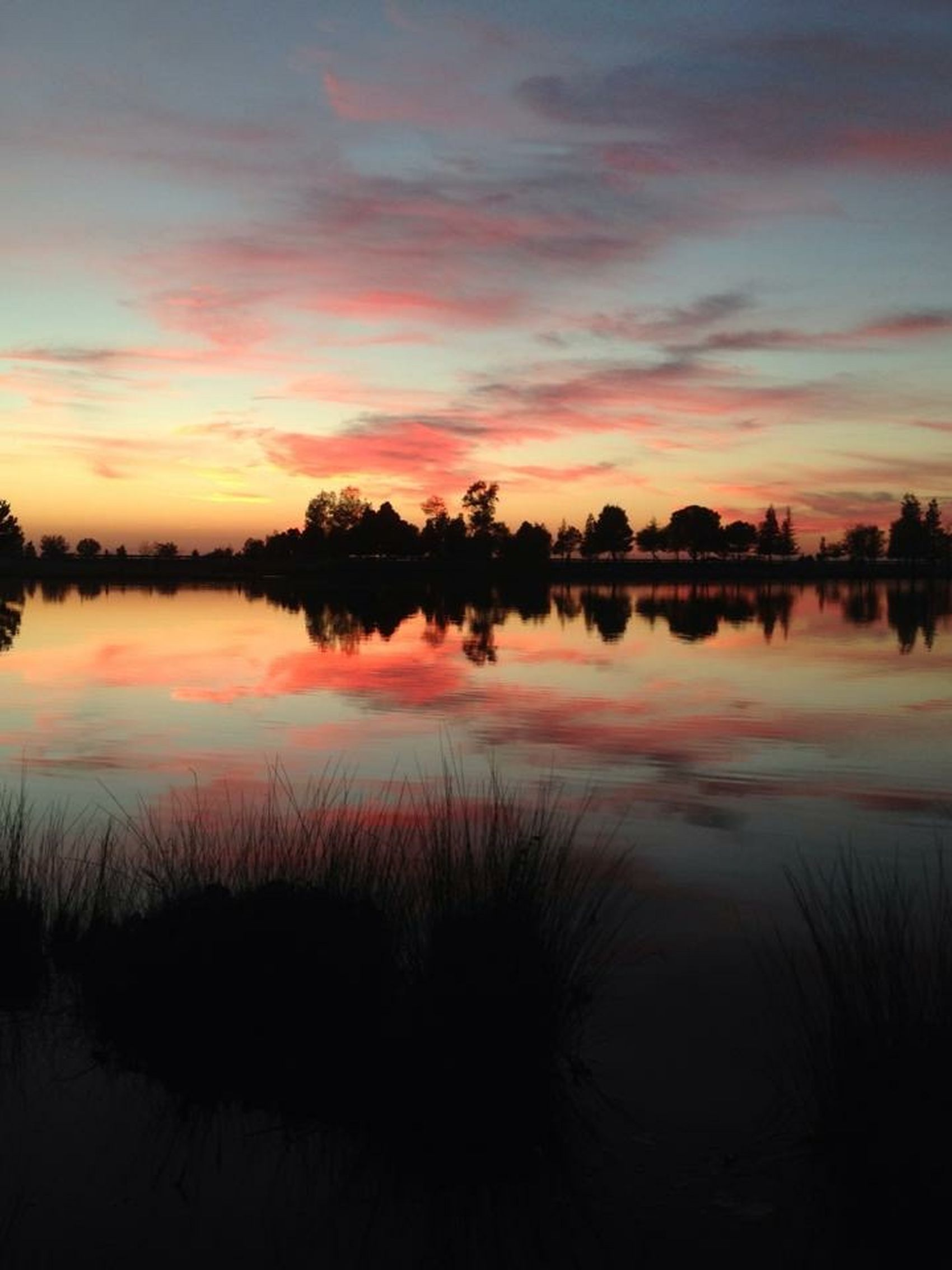 Clouds And Sky Cloudscape Majestic Nature Awesome Sunset Reflections Water Reflection Golden Sunset Water Reflections Sunset Silhouettes Sunset #sun #clouds #skylovers #sky #nature #beautifulinnature #naturalbeauty #photography #landscape Rancho Seco Park, CA