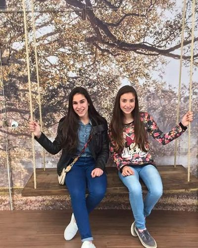 Young Adult Friendship Full Length Young Women Two People Togetherness Adults Only Casual Clothing Portrait Long Hair People Happiness Smiling Looking At Camera Tree Adult Front View Leisure Activity Only Young Women Topmodels Day