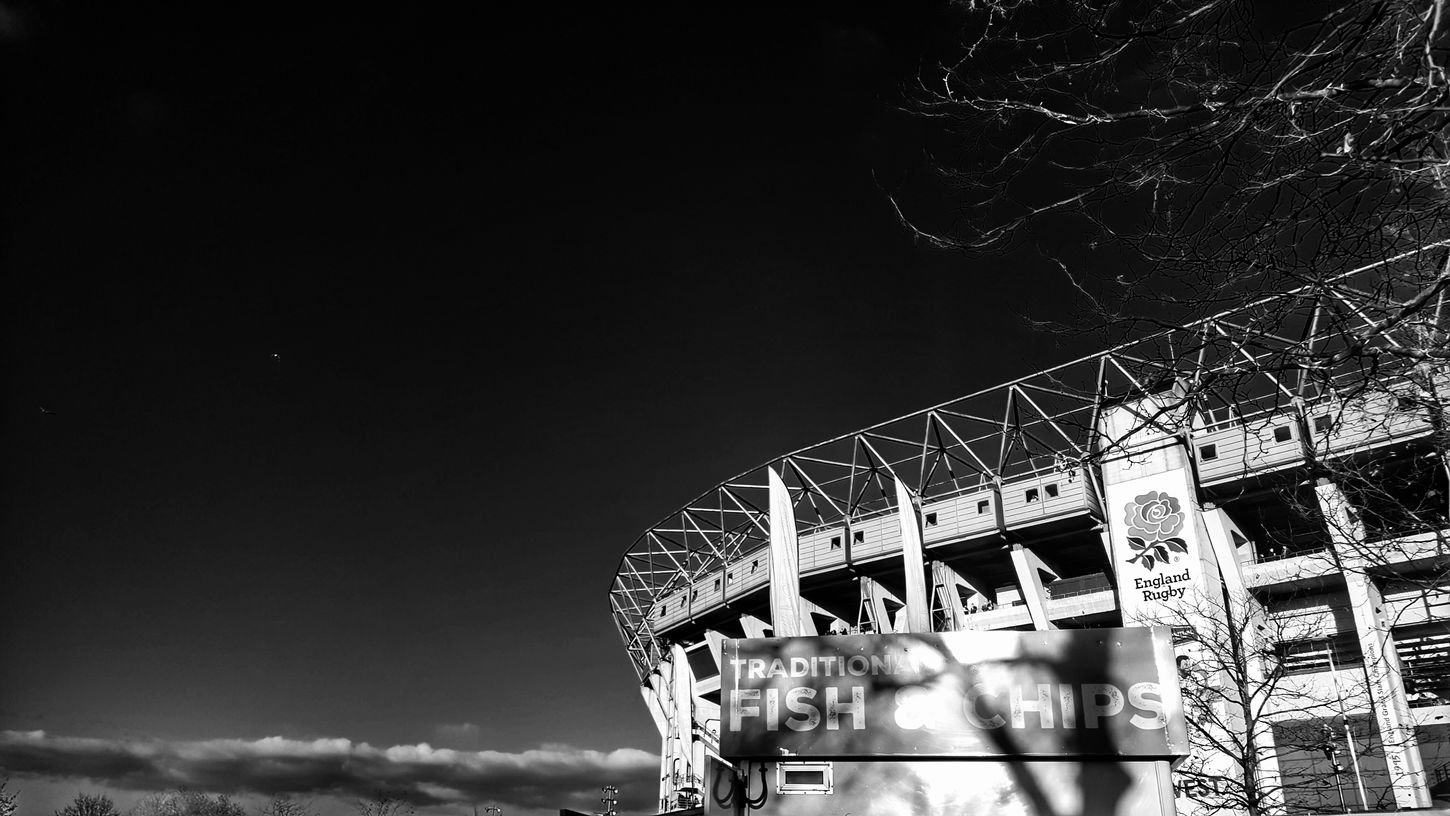 Sky Built Structure Architecture Outdoors Rugby Union Twickenham Rugby Sports Stadium Stadium Architecture Black & White Blackandwhite Beauty In Ordinary Things Urbanphotography Architecture_collection Architecture_bw Urban Exploration Black And White Collection  Architecture Black&white Urban Geometry Industrial Landscapes