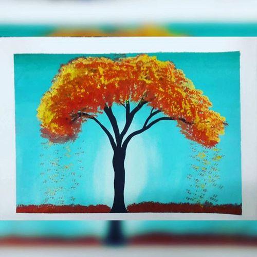 Mywork Painting Atomnfall Tree Treepainting Scenery Watercolour Treelovers