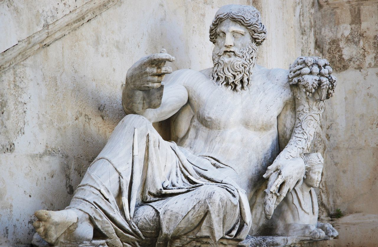 Statue Sculpture Human Representation Male Likeness Art And Craft Low Angle View Day Travel Destinations No People Architecture Outdoors Rome Fontana Di Trevi Ladyphotographerofthemonth Old Culture Ancient Ancient Civilization Ancient Architecture Roman Art Roman Statue