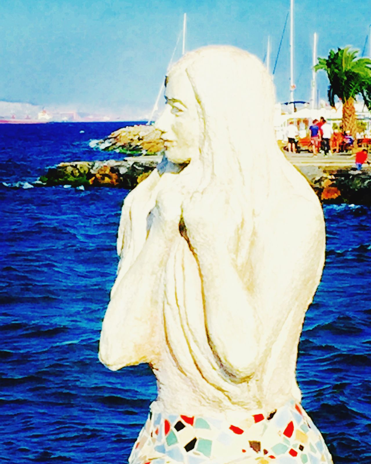 Mermaid Statue Art Seaview Sea Princeislands Prinkipo Mobile Photography Mobilephotography IPhoneography Showcase July Island Life