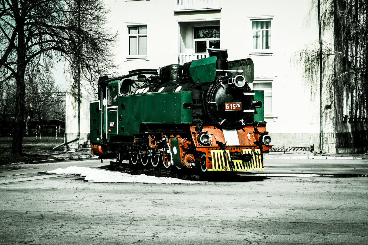 The last station of tge train 61576! Train Oldtrain Outdoors No People Vintage Vintage Style Vintage PhotographyMode Of Transport Locomotive Building Oldbuilding Trees City Outdoor Photography Outdoor Outdoorphotography Sofia, Bulgaria