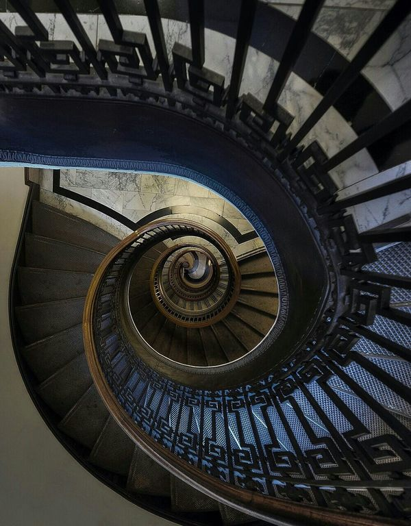 Stairs Taking Photos OpenEdit Relaxing Blue Spiral go walk
