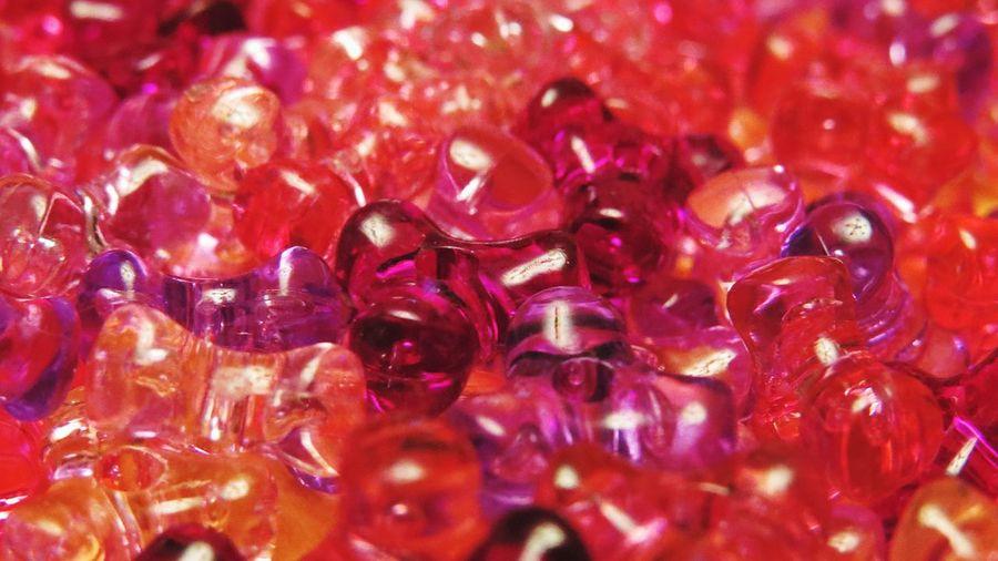 Beads Pink Purple Macro Close-up Orange Color Orange Light Pink Dark Pink Pattern Pieces