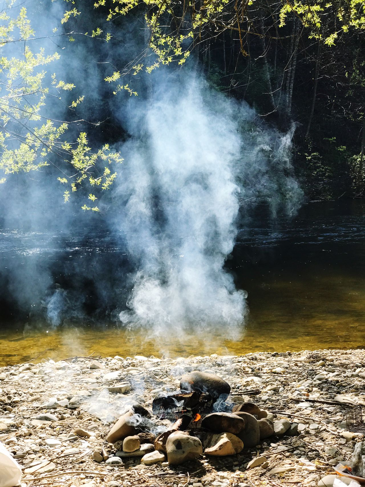 Smoke - Physical Structure Nature Steam Hot Spring Heat - Temperature Day Outdoors Water Beauty In Nature No People