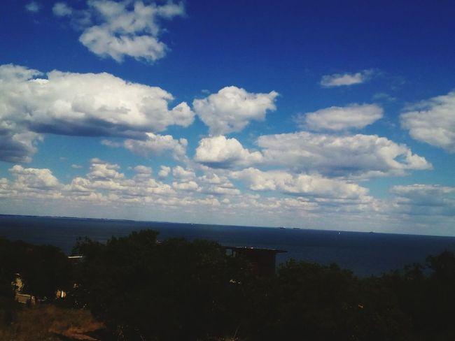 Odessa Walk Street Hello World Clouds Sea Ukraine 💙💛 Blue Summer ☀ Sky Tree Green Relax Time