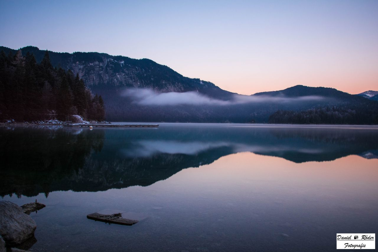 Beautifull sunrise at the einbsee lake in germany. Nature Water Beauty In Nature Lake Mountain Reflection Water Reflections Landscape Sunrise