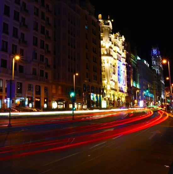 long exposition Longexposurephotography Long Exposure Madrid Granvia SPAIN Cars Canon Canonphotography Canon_photos Photography Photographer
