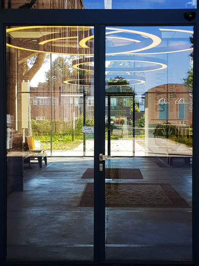 Inside out... Outside in... 🤔🤔 Exterior Light Reflection Sunlight Blue Sky Built Structure Day Door Hall Indoors  Inside Interior Light And Shadow No People Outdoors Outside Reflections Sky Tree Window Windows Architecture Architecture_collection