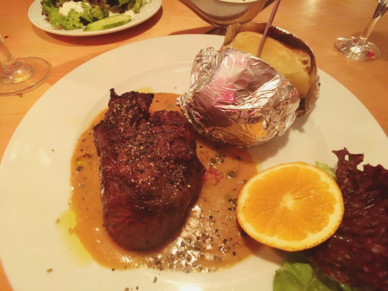 Steak and potato Food Food And Drink Ready-to-eat No People Steaks Steak Meat Fleisch Potato Jacket Potato Baked Potato