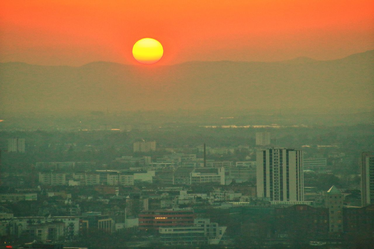 Sunset Sky Scenics Dramatic Sky Cityscape Nature Beauty In Nature Outdoors City No People Romantic Sky Architecture Urban Skyline Day Mannheim