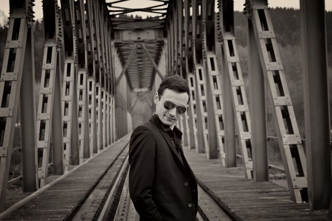 I see YOU Architecture Bridge Casual Clothing Cool Guy Lost Places Nostalgia Nostalgic  Style Sunglasses The Way Forward Urbex