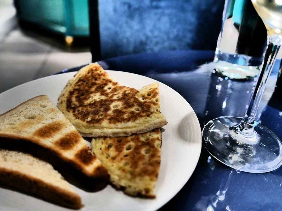 Bread Blinis Plate Meal At Table Restaurant The Foodie - 2015 EyeEm Awards