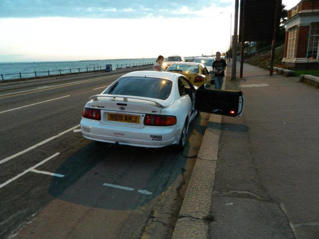 Celica gt at south end on sea, over 500mile round trip in 1 day :) I Love Cars ♥ Toyota Celica Southend On Sea For Fun