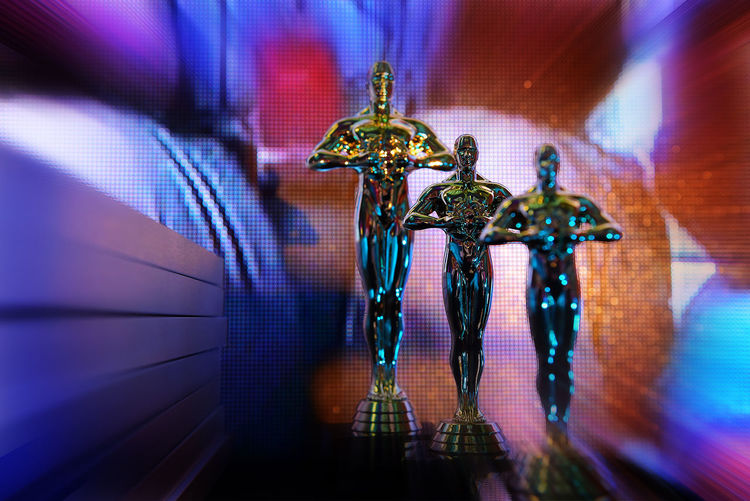 And The Oscar Goes Blue Close-up Decor Decoration Design Focus On Foreground Illuminated Light Lighting Equipment Multi Colored No People Ornate Purple Selective Focus 43 Golden Moments
