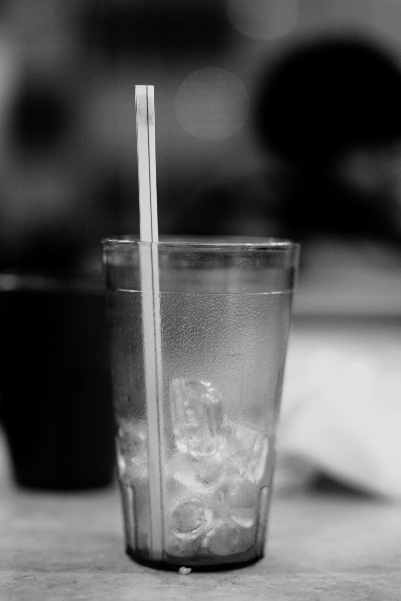 lipstick stain on straw Lipstick Stains Cup Straw Blackandwhite Photography Blackandwhite Black & White Food And Drink Drink Drinking Glass Close-up