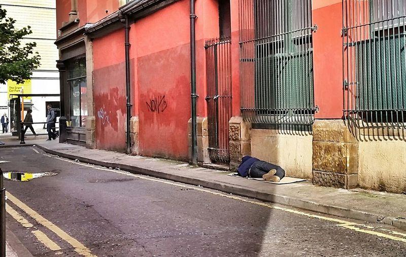 China Lane Homeless Sleeping Sleeping Rough