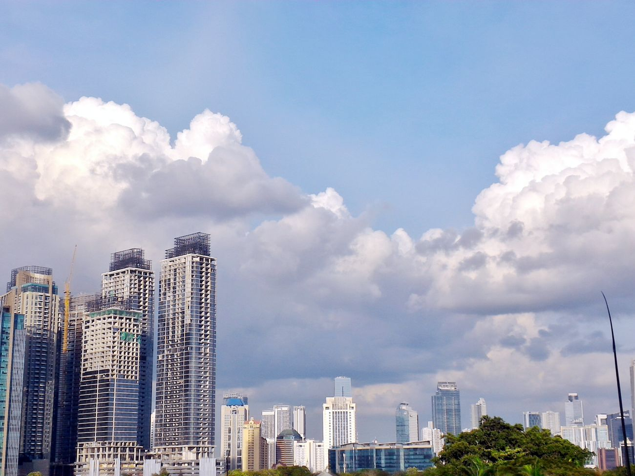 Awan Jakarta.. Urban Skyline Cityscape Skyscraper City Day Sky Cloudy Cloud - Sky Cloudscape Building Exterior Architecture My Year My View Building Story Construction Construction Site