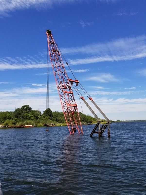 Submarine crane Outdoors No People Sky Water Cloud - Sky Day Nature Sport
