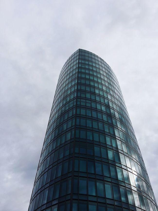 Architecture Building Exterior Sky City Glass - Material Cloud - Sky Stuttgart Badenwürttemberg Deutschland Germany Travel ShotOnIphone IPhoneography Shotoniphone6splus EyeEm