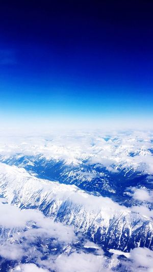 Clouds... Blue Scenics Tranquil Scene Clear Sky Tranquility Beauty In Nature Mountain Non-urban Scene Aerial View Nature Idyllic Water Majestic Remote Day Travel Destinations Tourism Mountain Range Sky Outdoors