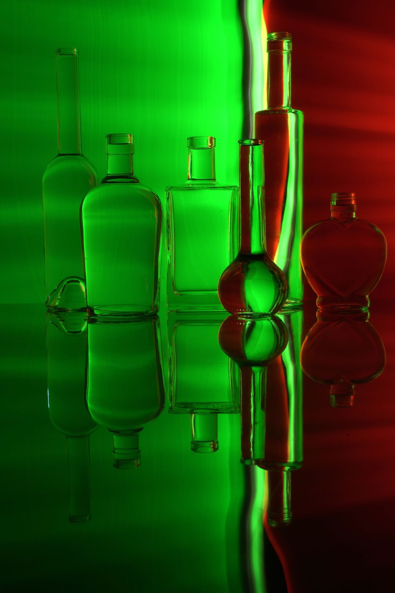 Green Color In A Row Bottle Empty No People Illuminated Close-up Variation Indoors  Day Art Abstract Creativity Bottles Collection Alcohol OpenEdit Tadaa Community Long Exposure Fine Art