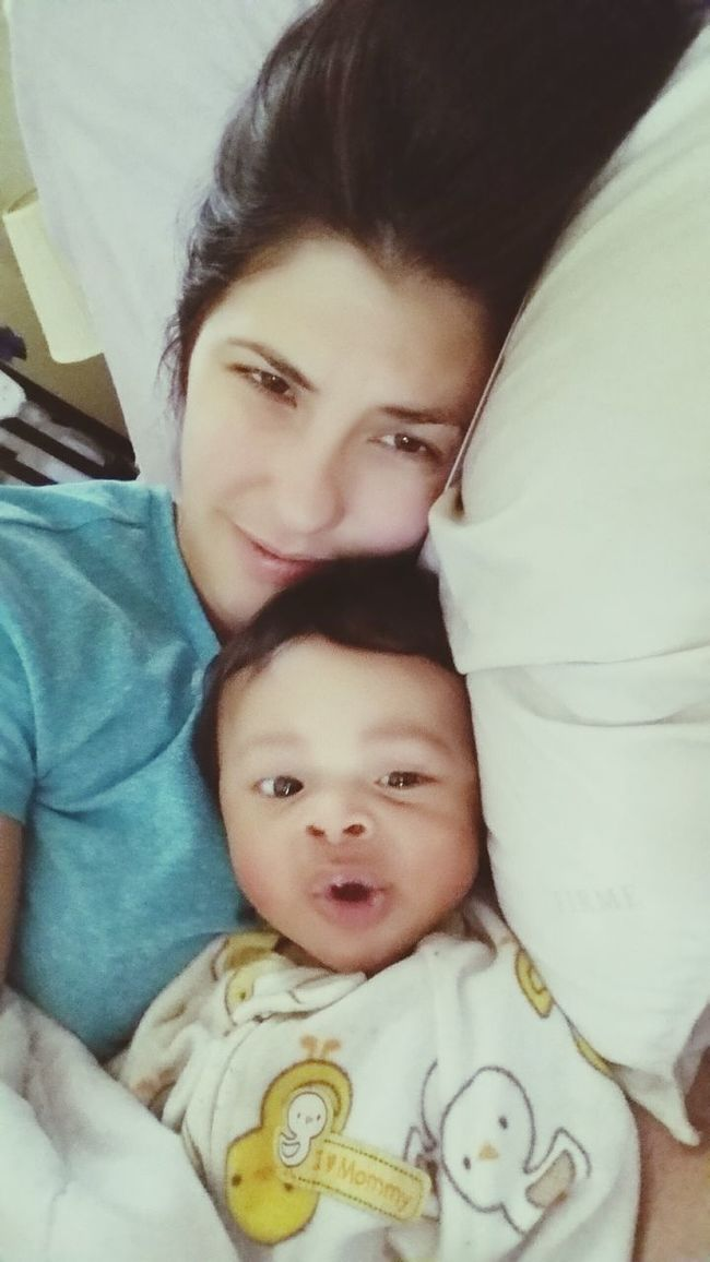 My Baby Boy Mommy & Baby Time <3 Cuddling Beautiful Day 5 Months Old My Mini Me <3 Chillin With No Makeup On Mommylife Always&Forever<3