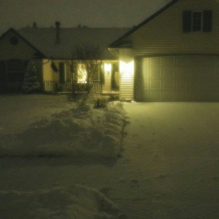 """Came home to 3"""" of Snow . Shoveled . Already another 1/2"""". Winter Storm is here."""