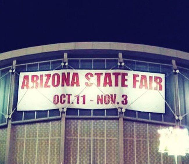 Arizona AZ State Fairgrounds Phoenix, AZ Way Out West Fun Entertainment Night Life Fall Time State Fair Sign Signage