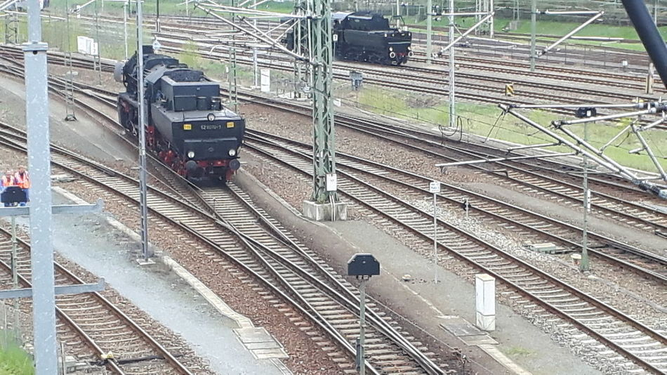 Arrival Commuter Train Day Freight Transportation High Angle View Land Vehicle Locomotive Mode Of Transport No People Outdoors Public Transportation Rail Transportation Railroad Station Railroad Track Shunting Yard Station Steam Train Subway Train Train - Vehicle Transportation