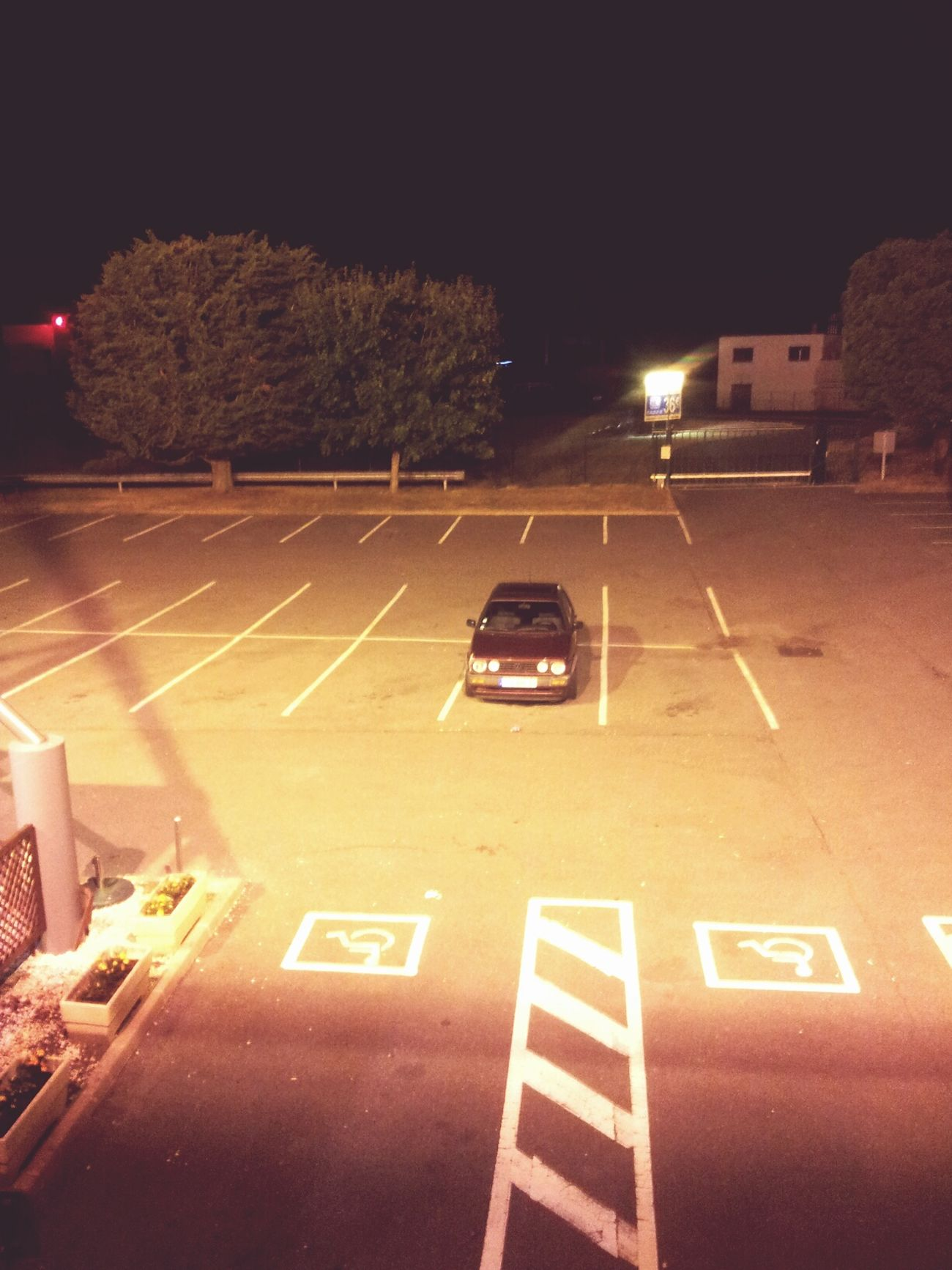 Parking Old Car Lonely Lonely Car Darkness And Light Night Nightlife Emptiness Taking Photos Hello World