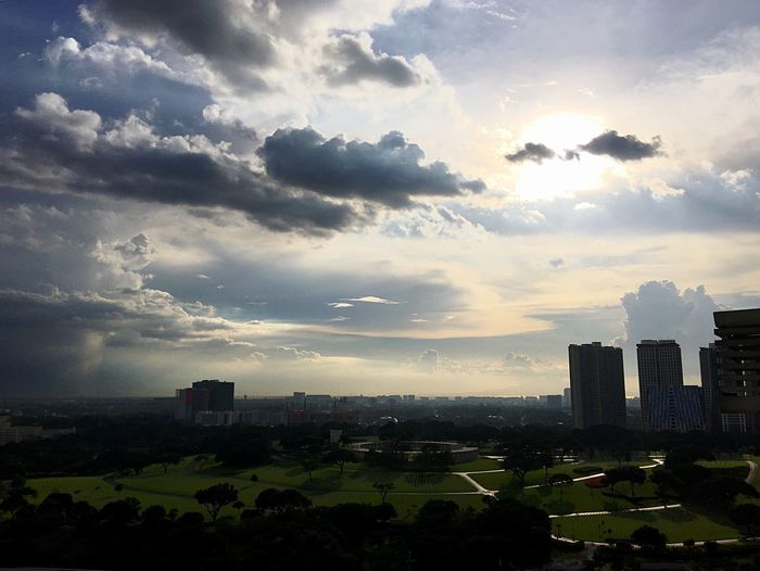 Life is a series of tiny miracles. Notice them! Great View Amazing Heavens Skyscraper Cityscape Cloud - Sky No People Travel Destinations Outdoors Sunset Silhouettes