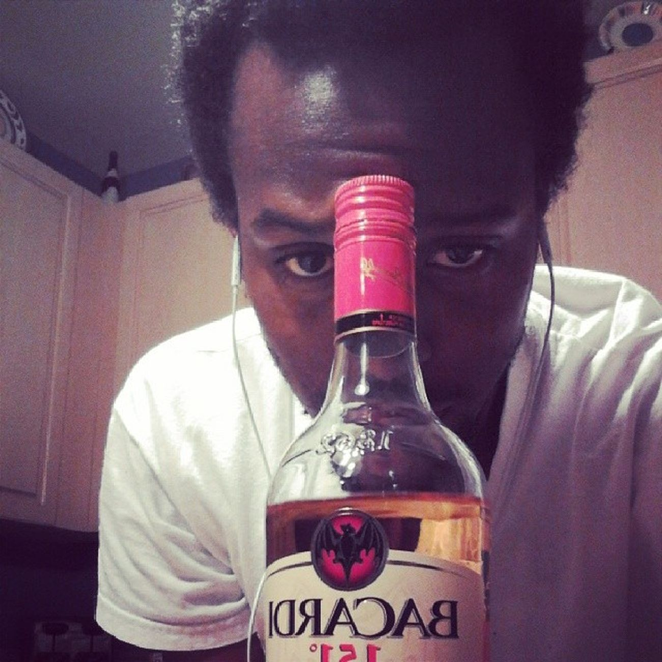 I'm gonna start drinking the night away Bacardi  151 Puertoricanrum