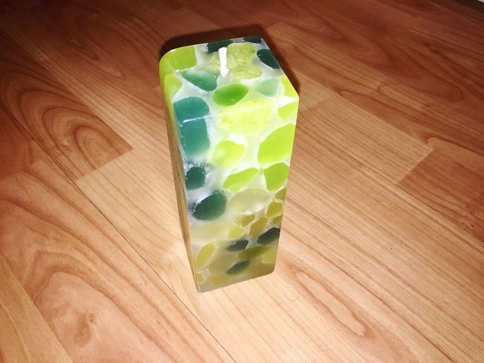 Green Candle Freestyle Candle EmNewHere Art Is Everywhere Refreshment Green Color From Myself